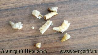 Высушенные личинки восковой моли